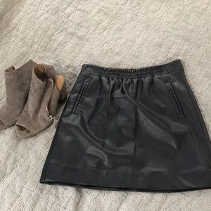 NWT LOFT faux leather skirt